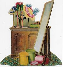 """DIECUT, """"THE MILLINER"""" FANCY HATS & BOXES, No.15~ LION COFFEE,Victorian Adv."""