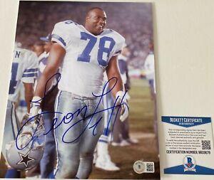 Leon Lett Signed Dallas Cowboys 8x10 Photo Beckett BAS COA Autograph Auto