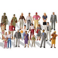 20pcs Model Trains 1:43 Scale O Scale Painted Standing Figures People P4307
