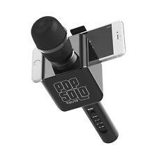 Pop Solo Wireless Bluetooth Karaoke Microphone With Smartphone Holder Tzumi New!