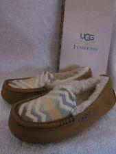 UGG Australia Ansley Pendleton Suede Leather Slippers Shoes US 6 M EUR 37  NWB