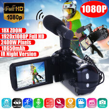 "Hd 1080P 24Mp 18X Zoom 3"" Digital Video Camera Camcorder Dv Ir Night Vison"