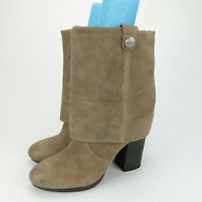 VINCE CAMUTO VC CHAPIN Taupe Suede Roll Down Boots Size 10 B