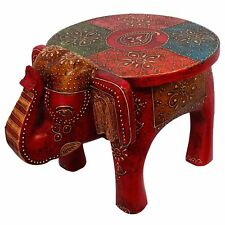 Designer Wooden Elephant shape Stool Handicraft coffee side table Free Shipping