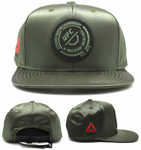 UFC Reebok New MMA Ladies Women Olive Green Satin Black Era Snapback Hat Cap