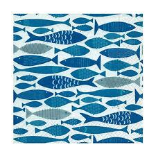Serviette Kommunion/Konfirmation Fisch blau