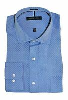 Tommy Hilfiger Men's Non-Iron Regular Fit Spread Collar Dress Shirt sky blue