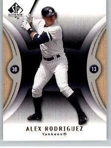 2007 SP Authentic Baseball #80 Alex Rodriguez - New York Yankees