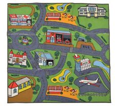 "EDUCATIONAL KIDS RUGS TRAFFIC DESIGN CHILDREN PLAY RUG 39""X 39"" SQUARE RUGS NEW"