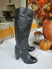 Tory Burch Blaire Mid Heel Tall Riding Boots size 5