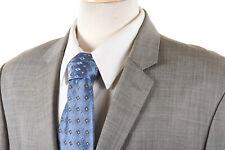 INDOCHINO Suit Jacket 40 S in Dove Gray Tick Weave 100% Wool Bespoke