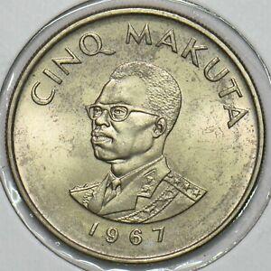 Congo 1967 5 Makuta 196830 combine shipping