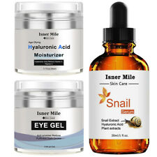 Eye Gel Moisturizer Cream & Hyaluronic Acid Moisturizer & Snail Repair Serum New