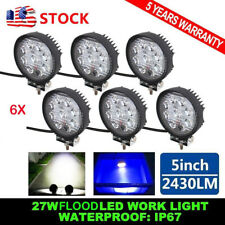 6PCS 27W LED Work Light Bar Spot Round Truck Lamp ATV UTE Boat 4x4 Off-road SUV