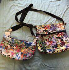 Disney Park And Animation Nylon Handbags Set Of 2
