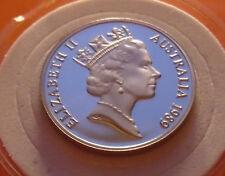RARE PROOF GEM  1989  AUSTRALIA  20 CENT PIECE< Top Pop Mirrors with Holder.