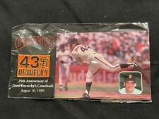 "SAN FRANCISCO GIANTS - Dave Dravecky ""25th Anniversary Comeback"" Pin, SGA, New"
