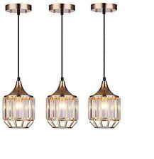 Pendant Light Set Fixture Modern Crystal Gold Kitchen Island Hanging Metal Mini