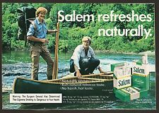 1974 KOOL CIGARETTE AD~CANOE~RIVER~STREAM~CREEK~PADDLES~OUTDOORS~BACKPACK