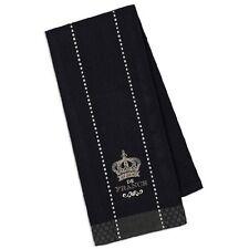 "Kitchen Towel Design Imports Embroidered Crown De France Dish Cotton 18 x 28"""