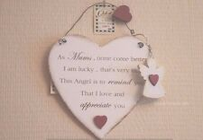 Plaque As Mum None Come Better Than You Heart Sign & Keyring Angel 22cm F1326B
