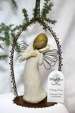 ANGEL ornament SEASHELL framed WILLOW TREE Ocean THINKING OF YOU Christmas Gift