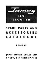 (0625) James 150 Scooter parts & accessories book.