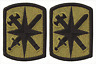 2 Pack US Army 14th MP Brigade OCP Scorpion Hook Back Military Police Patches