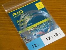 Rio Powerflex Trout Tapered Leader - 1X, 12ft (3 Pack)