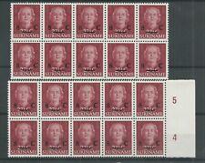 Suriname 330  Hulpuitgifte 2 blokken van 1 MNH/postfris  CV 10+ €