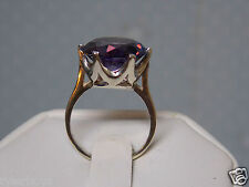 10ct purple raspberry alexandrite 925 sterling silver ring size 6.5 USA made