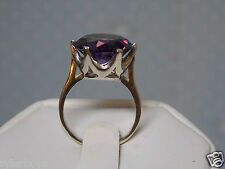 10ct purple raspberry alexandrite 925 sterling silver ring size 9.5 USA made