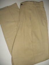 TOMMY BAHAMA 42 x 30 Relaxed Pleated Front 100% Silk Straight Fit Khaki Pants