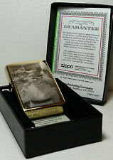 Authentic Engraved Brass Zippo Lighter with Free Photo, Text Engraving & Flints