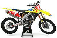 SUZUKI RM RMZ 125 250 450 MOTOCROSS MX GRAPHICS FULL KIT OEM TEAM 18