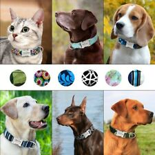 Custom Personalized Dog Collar Reflective ID Tags Laser Engraved Adjustable SML