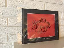Devil dogs Motorcycle Club  Original Logo On vellum Matted Ready to Frame USMC