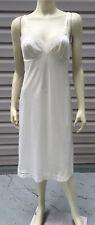 Vanity Fair Wn Sz 34 White Full Slip 26�/40 Style 10-103 Nylon Body W/ Lace Trim