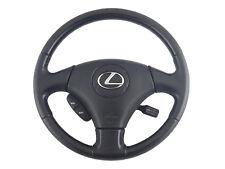 02-04 Lexus ES300 ES330 OEM Black Leather Wood Grain Steering Wheel Air Bag SRS