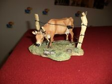 Lowell Davis The Grass Is Always Greener Cow Figurine Schmid Scotland 1991