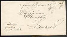 ÖSTERREICH 1873 BRIEF KORITSCHAN nach LITTENSCHITZ +ABSENDERVIGNETTE(D0946