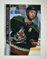 2020-21 UD Series 2 Base Clear Cut #258 Niklas Hjalmarsson - Arizona Coyotes