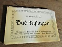 Germany Bavaria Bad Kissingen Postcards Old Vintage Book-12 Cards