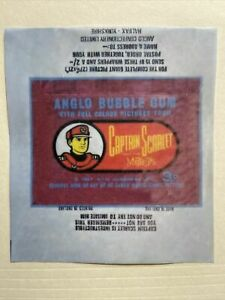 1967 Anglo Captain Scarlet and the Mysterons Gum Wax Wrapper Print