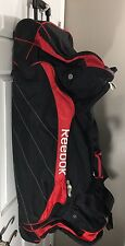 Lot Of 3 Reebok Wheeled Hockey Equipment Bags 2 Blue 1 Red