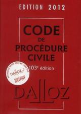 code de procédure civile (édition 2012) Collectif Occasion Livre