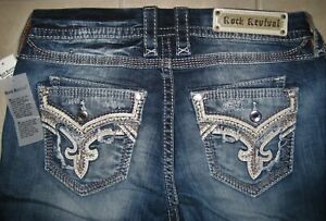 Rock Revival Mertie Easy Straight EP2540EJ201R Women's Jeans Size 33 NWT