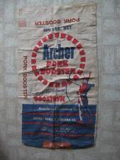 VTG Advertising FEED Bag Sack ARCHER PORK BOOSTER ARCHER DANIELS MIDLAND CO.