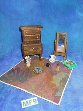 Vintage Dollhouse Doll House Lot: Shackman Bedroom Vanity Mirror, More Mf9