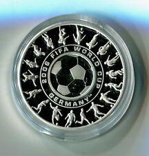 1 Dollars 25 Cents Australien 2006 Fußball WM Deutschland Silber PP M_630